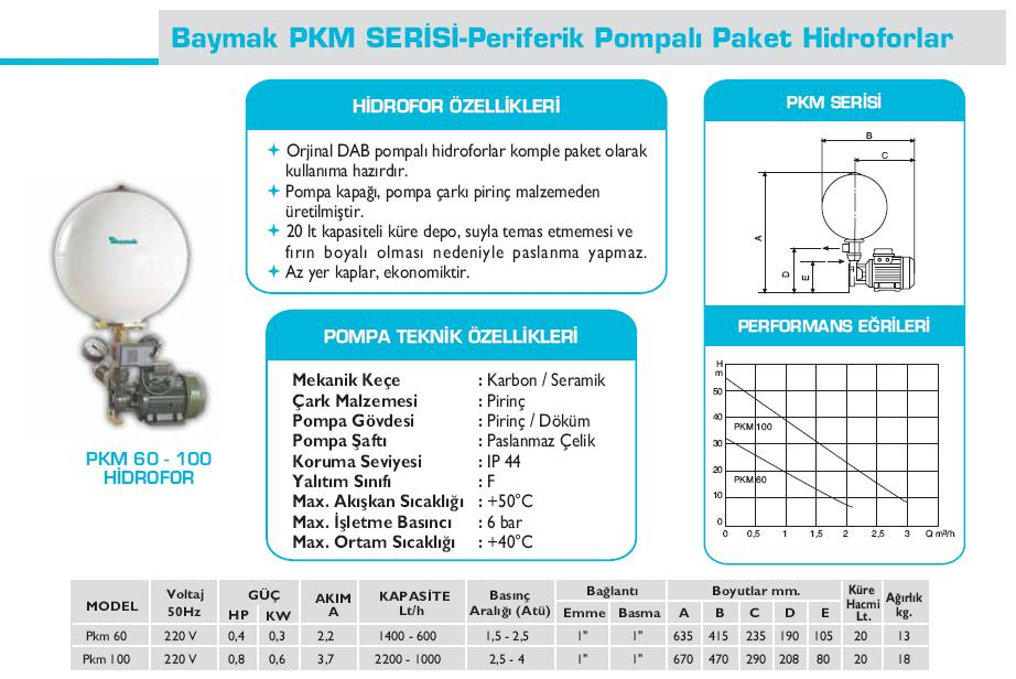 Baymak-pkm-hidrofor-teknik